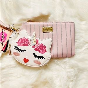 Betsey Johnson wristlet and coin purse